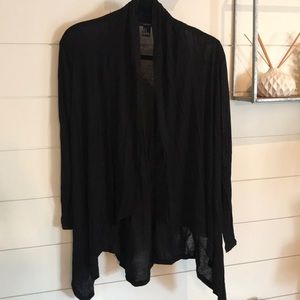 Forever 21 light Black cardigan duster- Medium